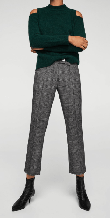 Mango glen plaid pants