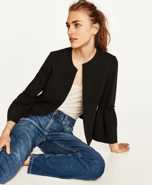 Zara: Bell sleeve blazer