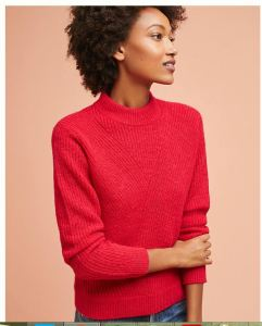 Second Female cozy red sweater at Anthropologie