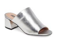 Metallic flashy mules - TopShop