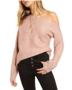 Nordstrom off-the-shoulder sweater