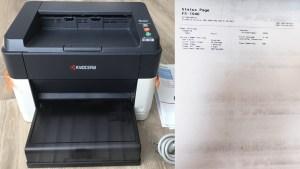 Kyocera FS-1040 - тестовая страница с грязным отпечатком