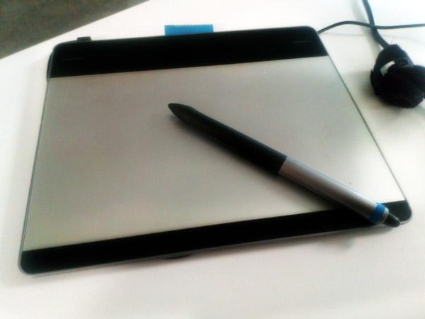 A Wacom Intuos tablet on my desk