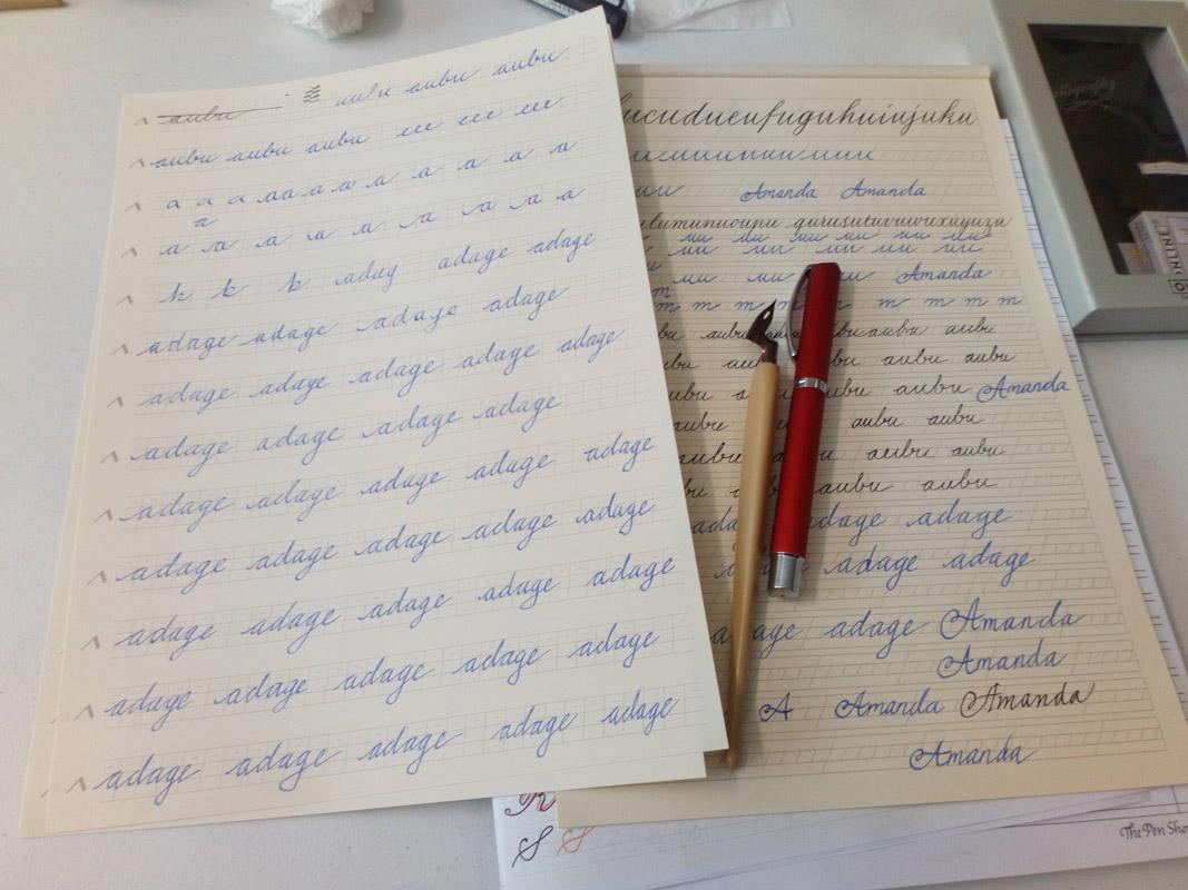 Calligraphy fountain pen and elbow nib