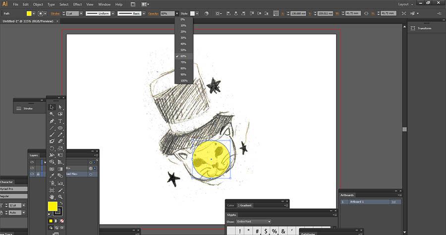 Adobe Illustrator rotate rool
