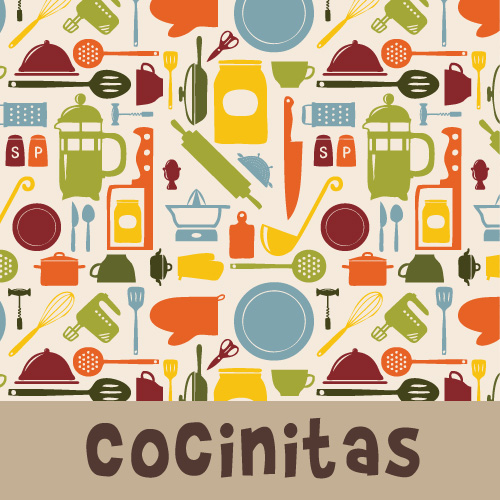 Zirkus Design | Cocinitas Retro Kitchen Surface Pattern Design Collection