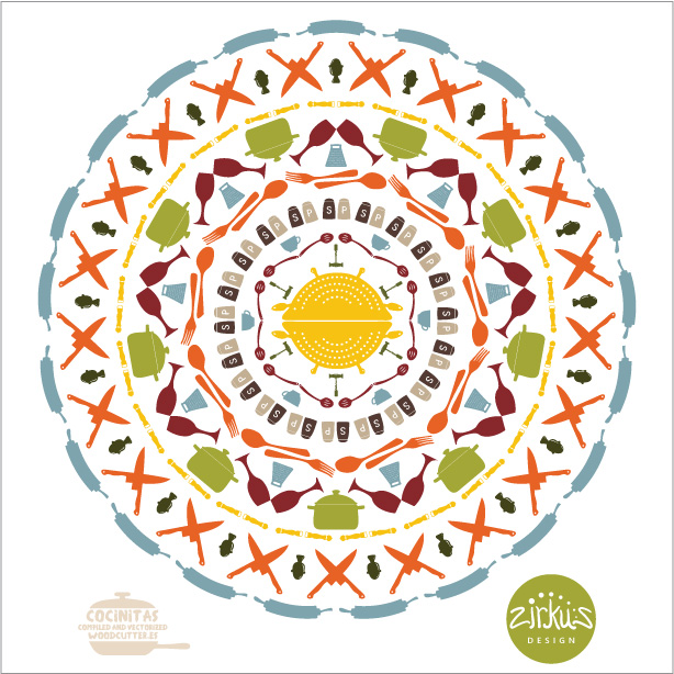 Zirkus Design | Cocinitas Retro Kitchen Repeat Pattern Design Mandala