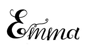 Zirkus Design   Emma Woodhouse Hand Lettered Logo Scan - Emma 2