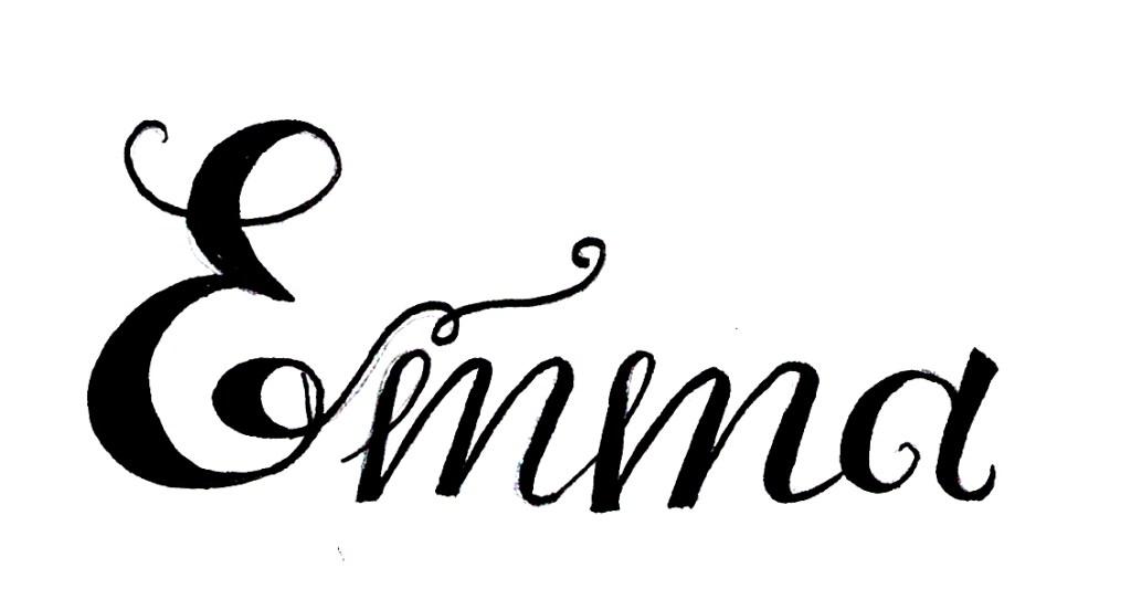 Zirkus Design | Emma Woodhouse Hand Lettered Logo Scan - Emma 2