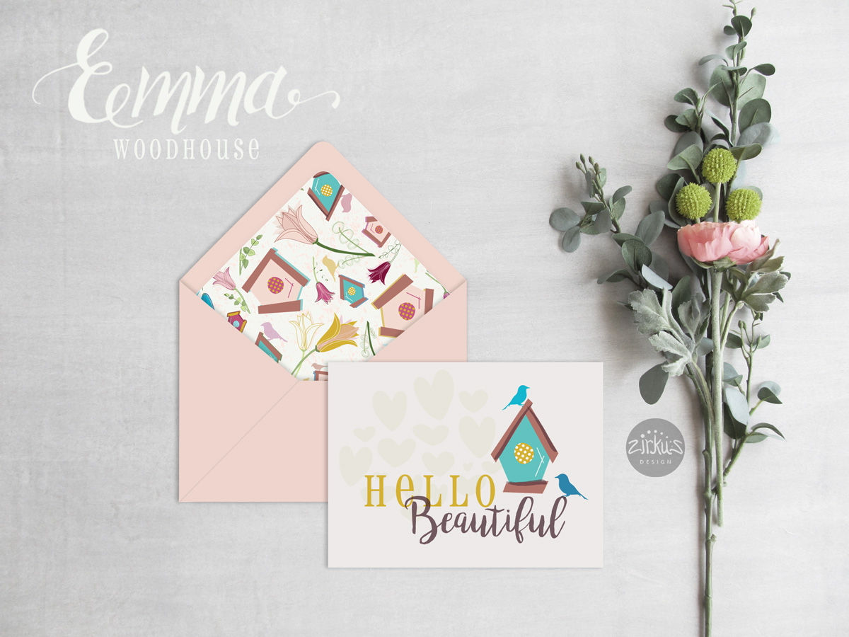 Zirkus Design | Emma Woodhouse Surface Pattern Design Collection Card Envelope Mockup