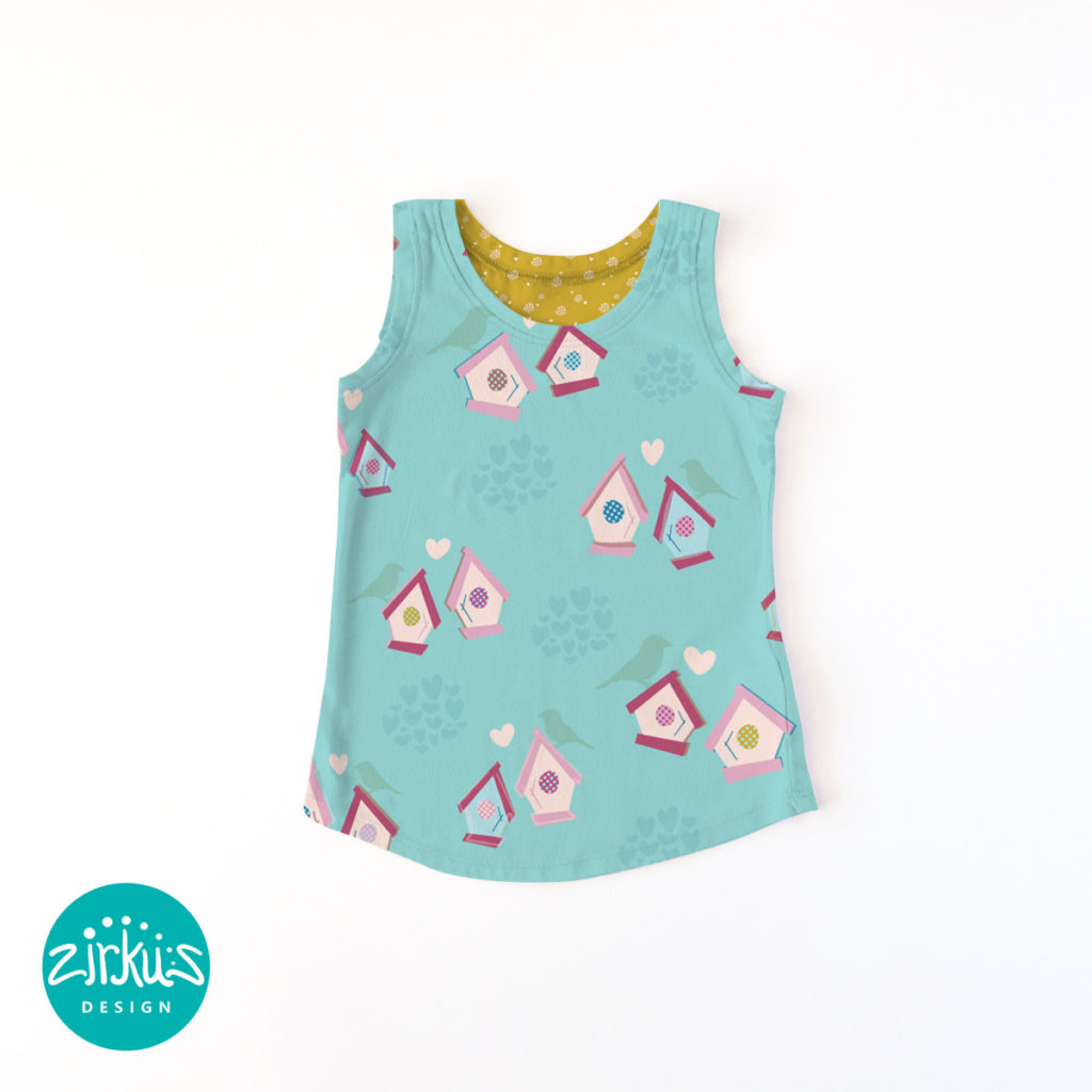 Zirkus Design | Emma Woodhouse Pattern Collection Children's Clothing Tank Top Mockup