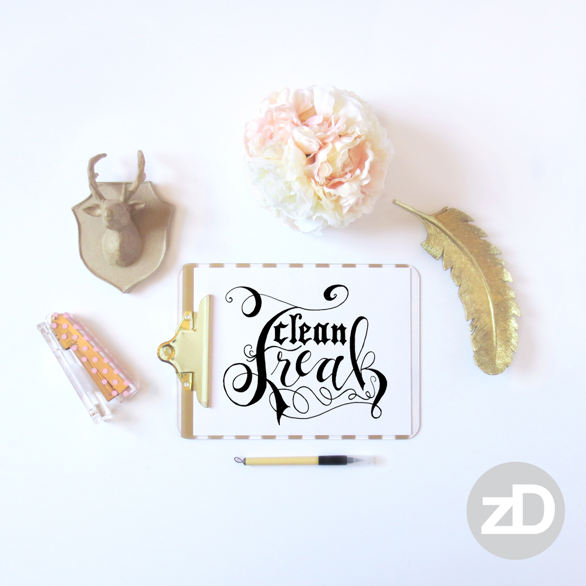 Zirkus Design | Photographing Flat Lay Product Mockups | Clean Freak Hand Lettering