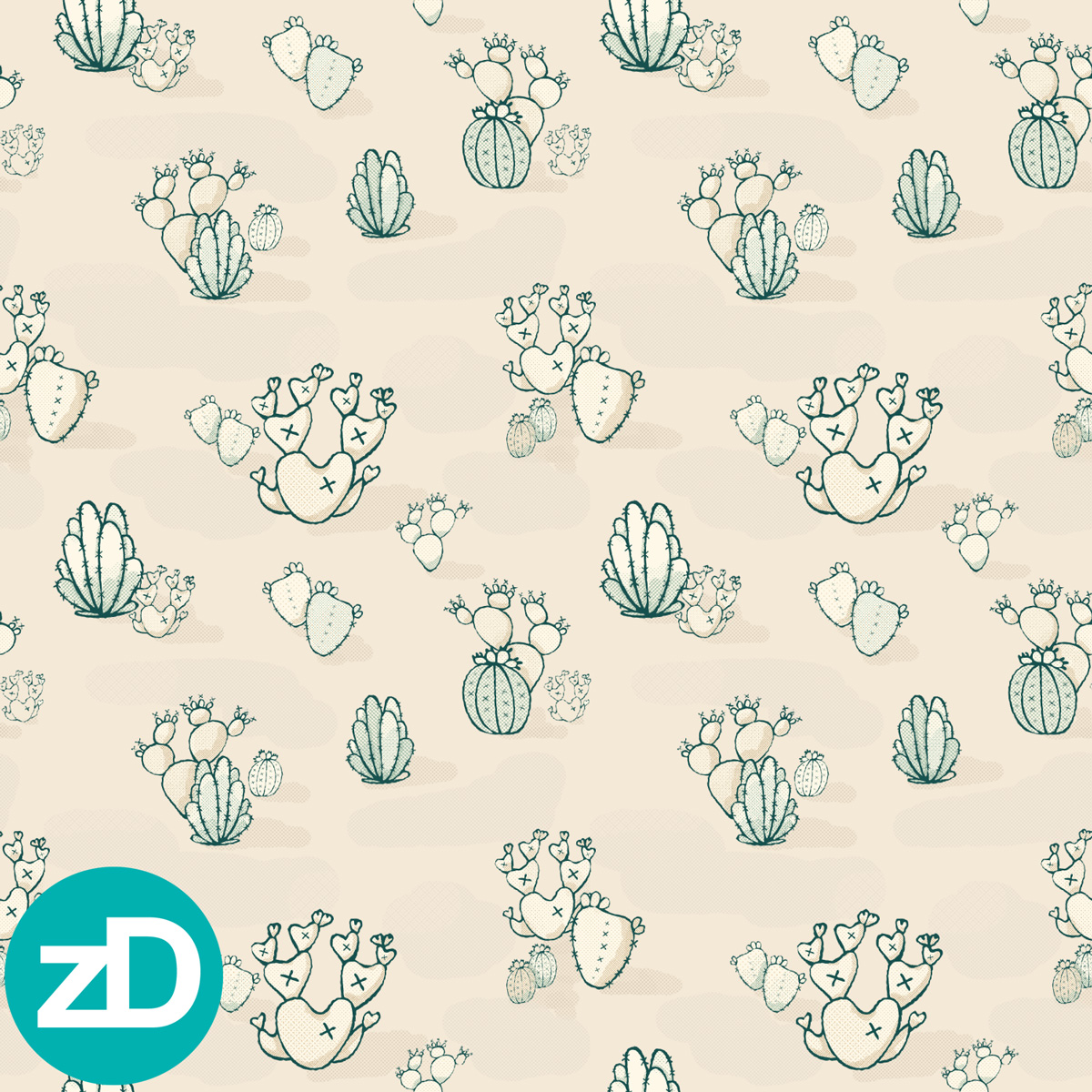 Zirkus Design | Cody Arizona Wild West Pattern Collection : High Desert Cacti
