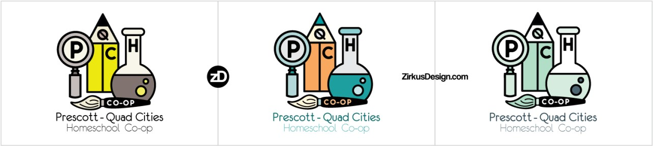 Zirkus Design | Homeschool Co-op Logo Design Retro Color