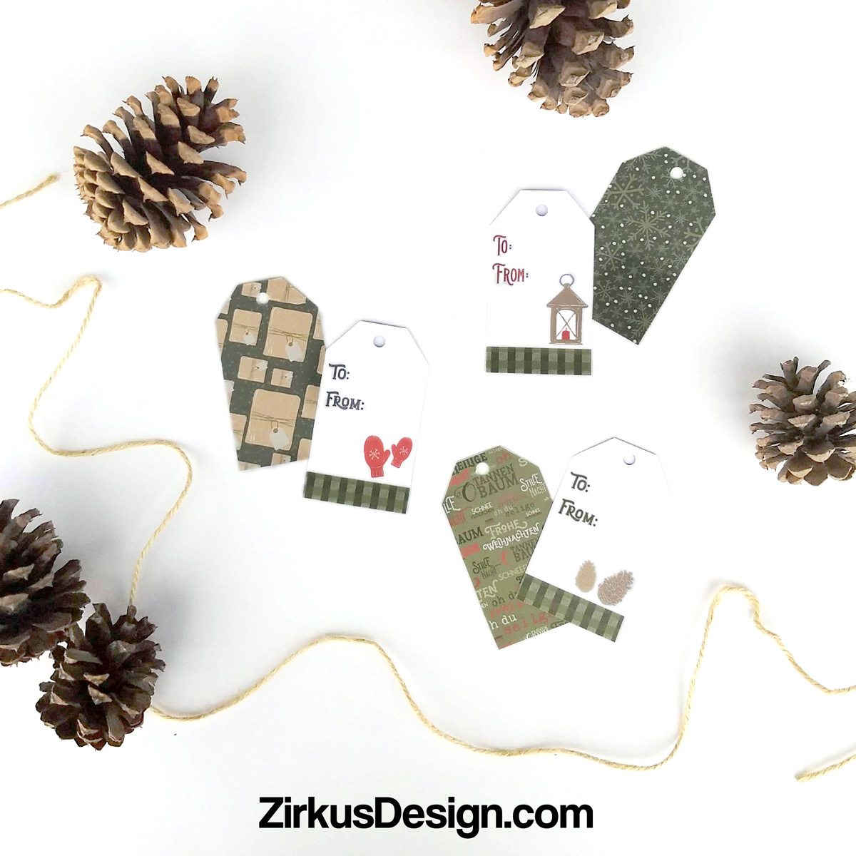 Zirkus Design | Warmest Wishes Farmhouse Christmas FREE Printable Gift Tags