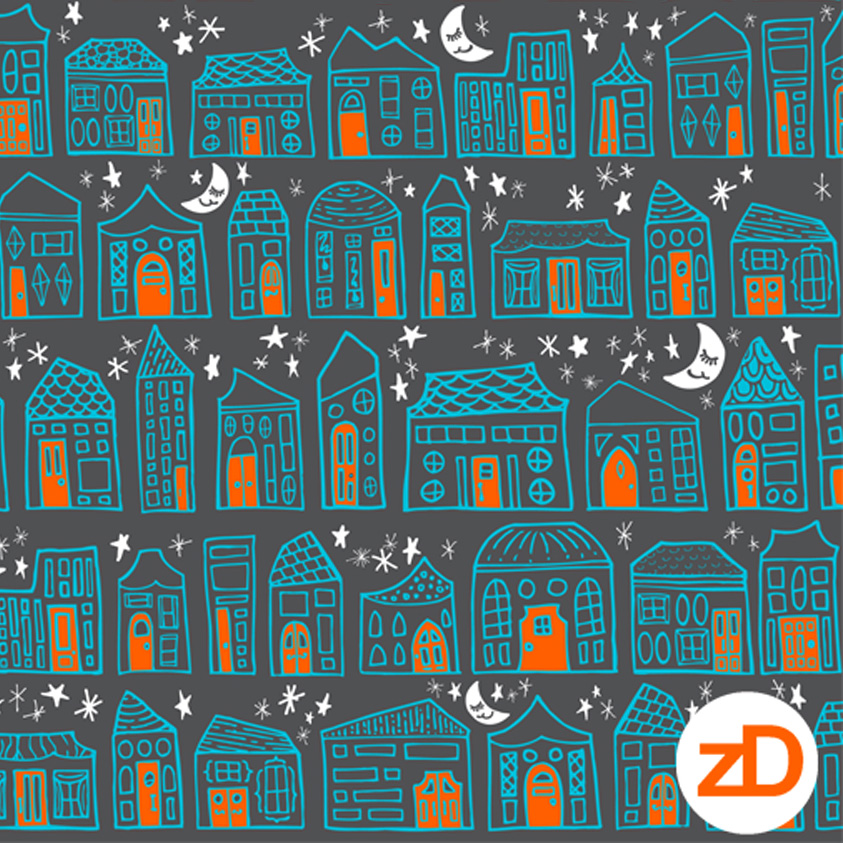 Zirkus Design | Starry Night in the City: Spoonflower Challenge Winner and New Pattern - Colors for Boys