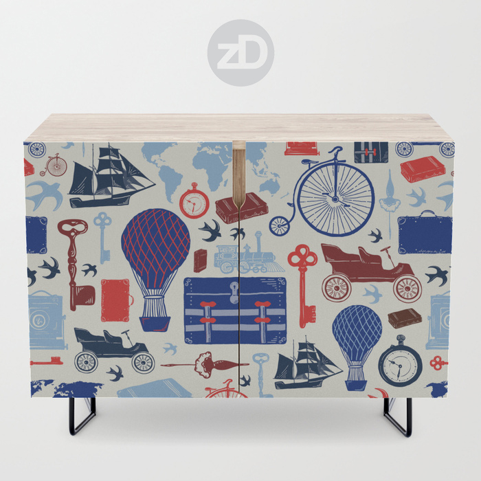 Zirkus Design | All Aboard to Explore Our Marvelous World - Society6 Credenza