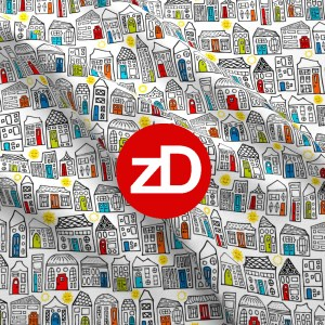 Zirkus Design | Happy City Pattern Collection - Welcome Home! - Daytime Version n Gender Neutral Colors (Pattern Swatch)