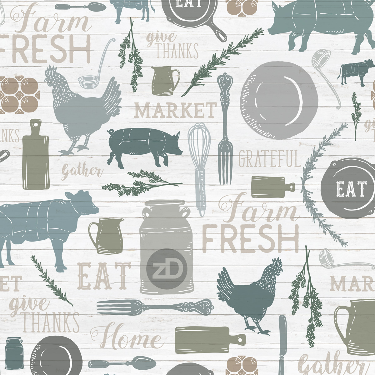 Zirkus Design | Sing for Your Supper: A Modern Farmhouse Pattern Design - Swatch