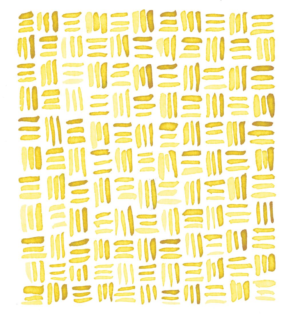 Zirkus Design   Indigo Vibes Summer Watercolor Surface Pattern Design Collection : Yellow Gold Watercolor Crosshatch