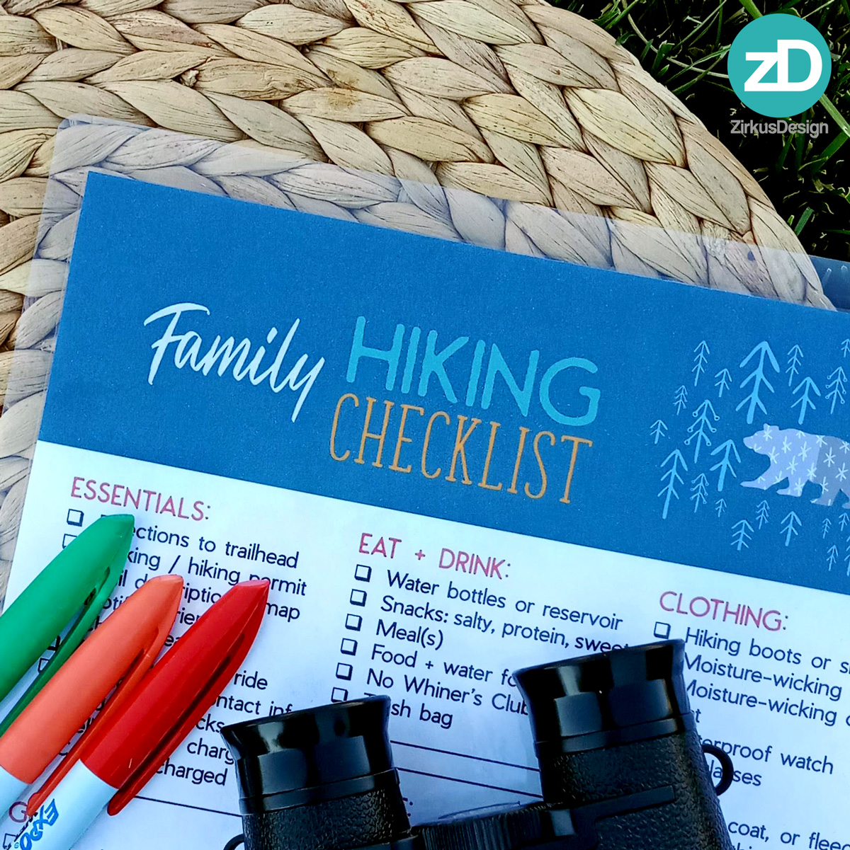 What to Pack for a Family Day Hike - FREE Printable Checklist! - ZirkusDesign.com