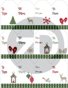 Zirkus Design | Warmest Wishes Farmhouse Christmas FREE Printable Gift Tags - Front Preview