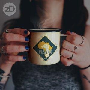 Zirkus Design | Stick 'Em Up: Sticker Design for a Good Cause - Africa Missions Trip Meerkat Stickers - Final Sticker Design Mug Mockup