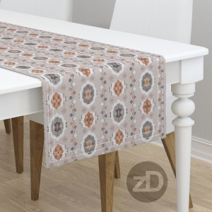 Zirkus Design | Boho Baby // Middle Eastern Metallic Pattern Collection Inspired by Turkish Kilim: Hero Print (Table Runner Available Through Roostery)