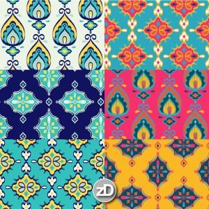 Zirkus Design   Surface Pattern Design Mini Ikat Collection : Tangier Teal