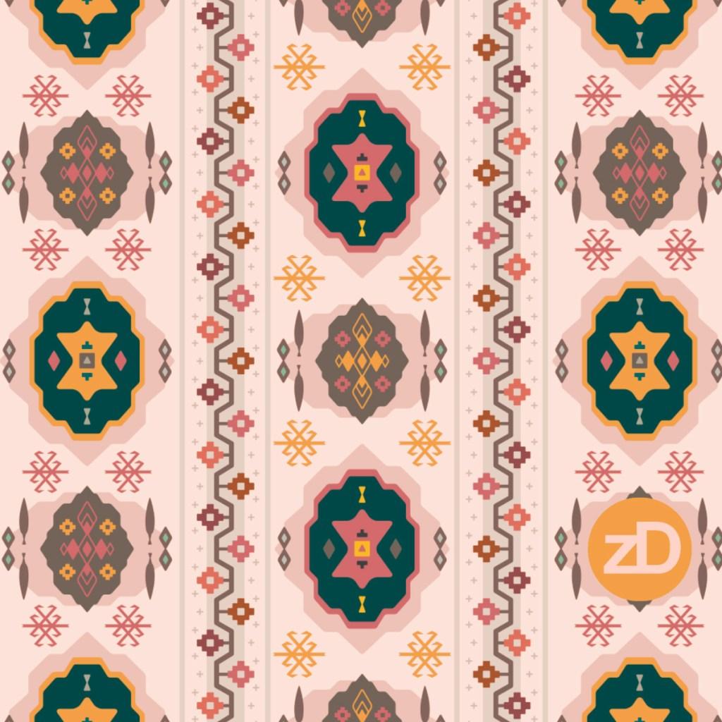 Zirkus Design | Boho Baby // Middle Eastern Metallic Pattern Collection Inspired by Turkish Kilim: Original Spoonflower Color Palette