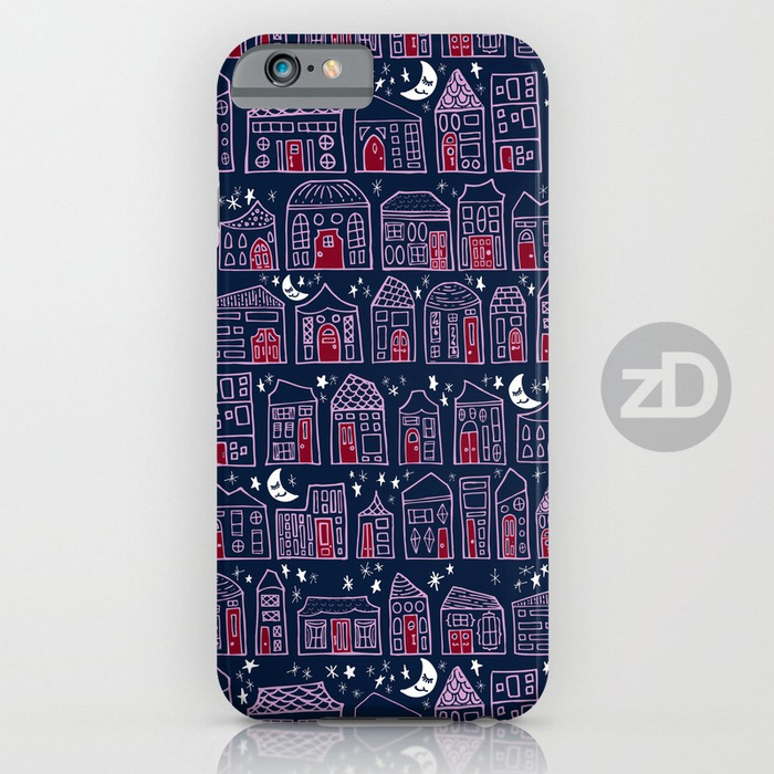 Zirkus Design | Starry Night in the City Pattern Available on a Custom Phone Cases by RedBubble