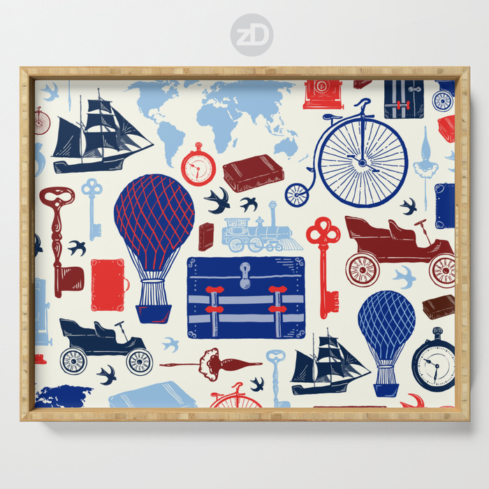 Zirkus Design | All Aboard to Explore Our Marvelous World - Wooden Tray
