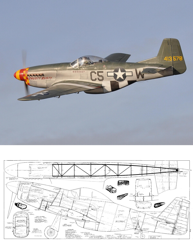 P-51 Mustang : mustang, P-51D, Mustang, Plans, Ziroli, Scale