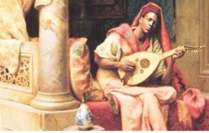 Ziryab Playing Lyre a picture representing The Heart and Soul of Ziryabs Products