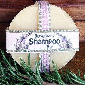 Natural Soap-Based Rosemary Shampoo Bar