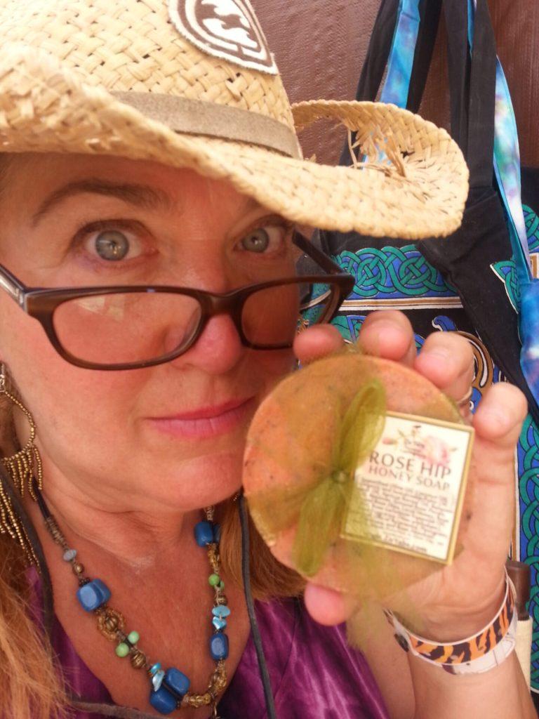 Brenda with Soap