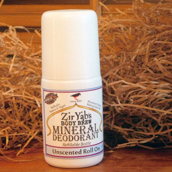unscented mineral roll-on deodorant