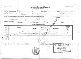Anmeldebestätigung 1975, Oğuz Şakır (© privat)