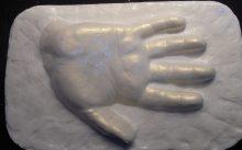 Handabdruck, Hanife Terkivatan (© privat)