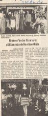 Tercüman Gazetesi - Türkischer Zeitung, Modenschau 1982 (© Tercüman)
