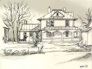 outside draw sketch place farmhouse fun julia adventure