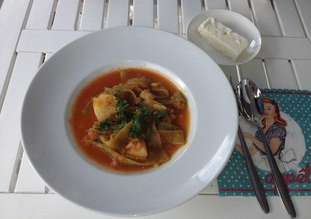 Fasolakia - griechischer Eintropf mit grünen Bohnen