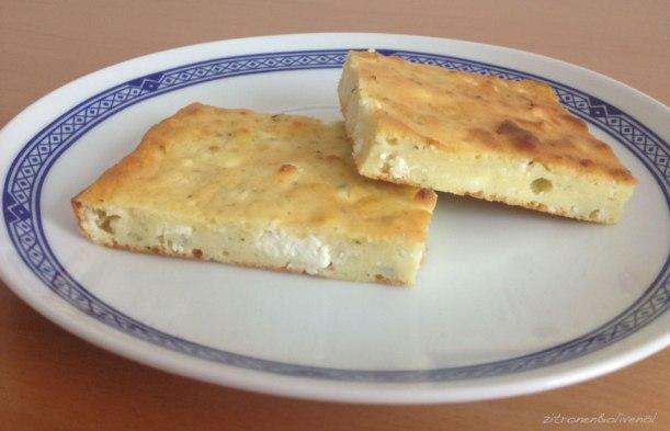 Schafskäse-Pita ohne Filo, Tiropita