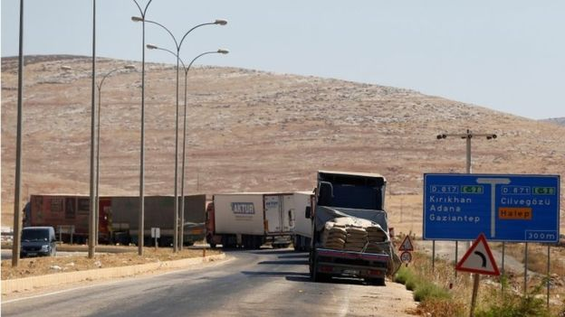 Weapons and armaments are brought into Syria from Turkey