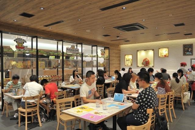 Pokémon Café 寶可夢咖啡廳裡面的用餐環境