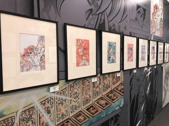 展覽的會場也有展出聖鬥士星矢的繪畫稿,照片上的是五小強。