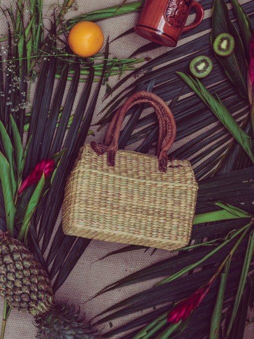 handmade basket bag