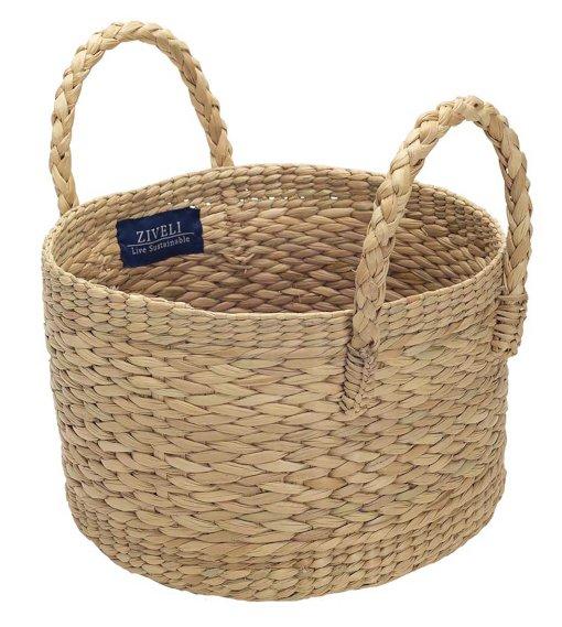 medium round handcrafted basket Ziveli