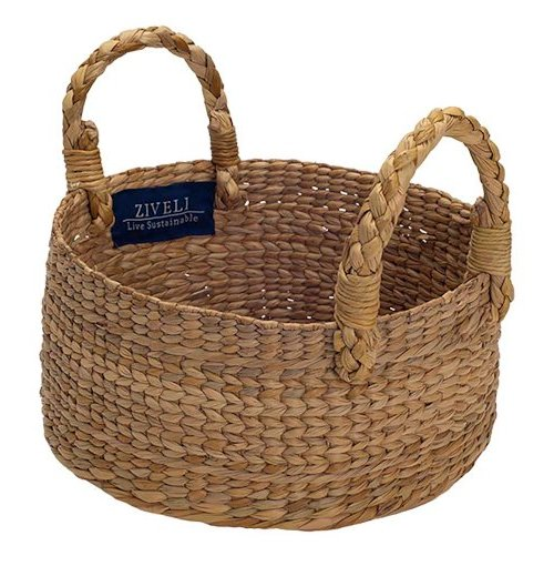 small round basket Ziveli