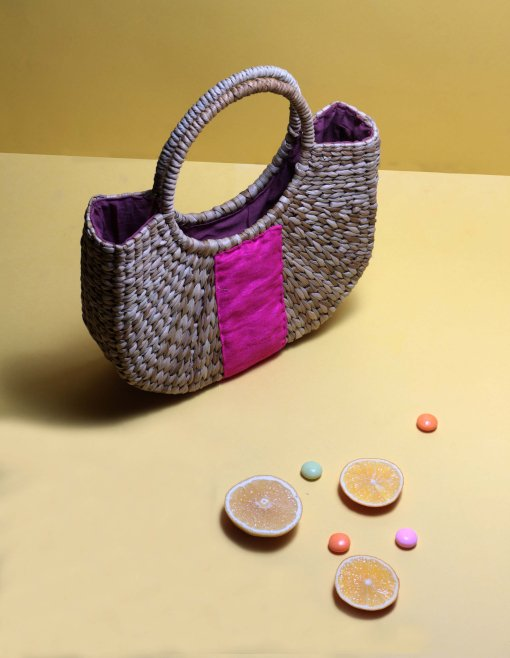 straw small handbag